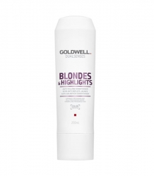 GOLDWELL DUALSENSES BLONDES & HIGHLIGHTS ODŻYWKA NEUTRALIZUJĄCA DO WŁOSÓW BLOND 200 ML.
